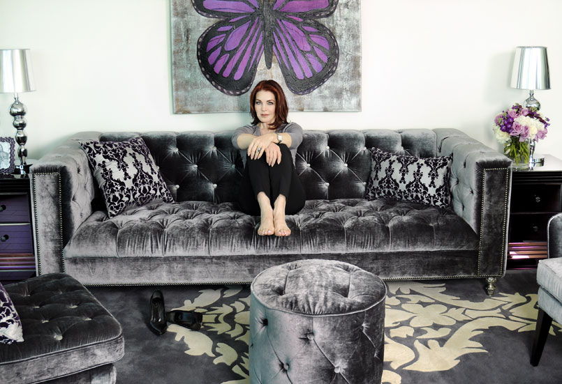 Priscilla Presley Rockin Out With Furniture She Ain T No Hound Dog Lovelydiggs